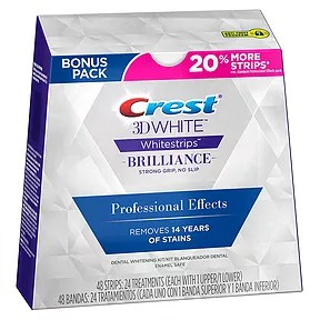 CREST 3D White Whitestrips Professional Effects Brilliance